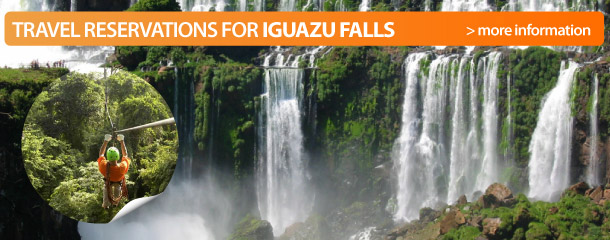 Reserve an adventure tours at Iguazu Falls