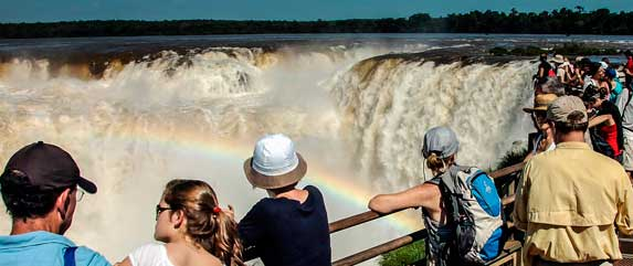 Footbridges in iguazu falls